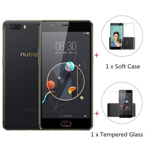 Package Nubia M2 5.5 Inch 4GB 64GB Smartphone Black Gold