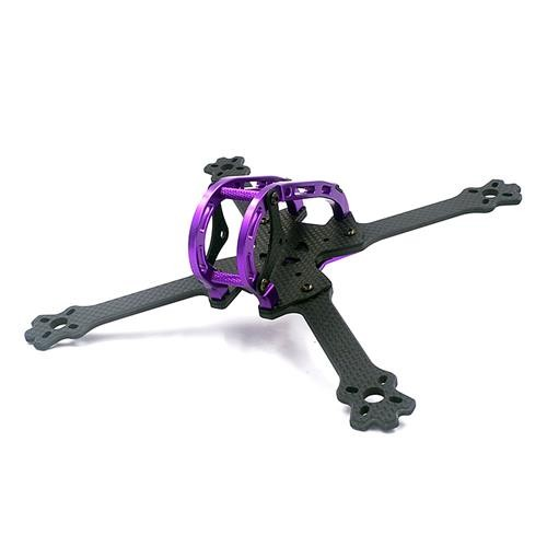 Alfa-LX5 220mm Wheelbase Carbon Fiber 4mm Arm Thickness Normal X Frame Kit - Purple
