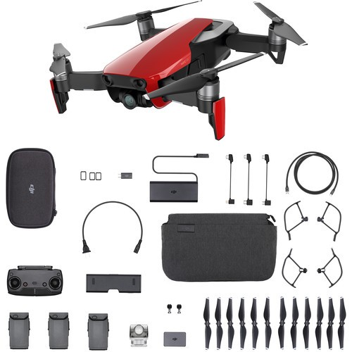 DJI Mavic Air 4K Foldable RC Drone Fly More Combo Flame Red