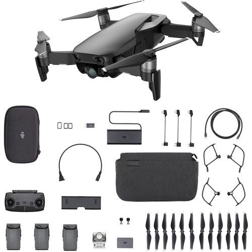 Mexico Instock DJI Mavic Air 4K Camera 3-Axis Gimbal 32MP Sphere Panoramas Foldable RC Drone Fly More Combo - Onyx Black