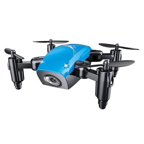BROADREAM S9W Mini WIFI FPV 0.3MP Camera Altitude Hold Mode Foldable RC Quadcopter RTF - Blue