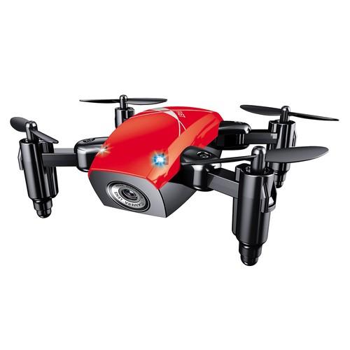 BROADREAM S9W Mini WIFI FPV 0.3MP Camera Altitude Hold Mode Foldable RC Quadcopter RTF - Red