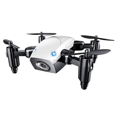 BROADREAM S9W Mini WIFI FPV 0.3MP Camera Altitude Hold Mode Foldable RC Quadcopter RTF - White