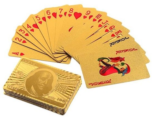 24K Gold-Foil Plated Poker
