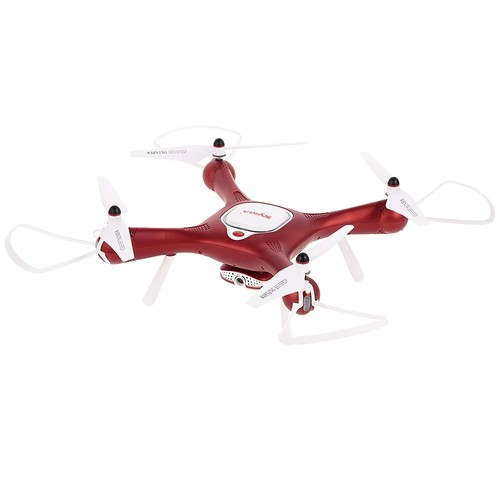 Syma X25W WIFI FPV RC Quadcopter with Adjustable 720P HD Camera Optical Flow Positioning RTF - Red