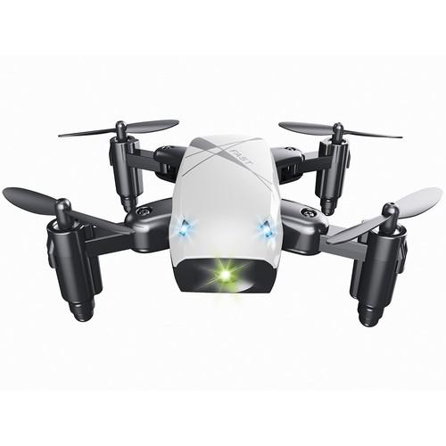 BROADREAM S9 Mini Foldable RC Quadcopter with Headless Mode LED Lights RTF - White