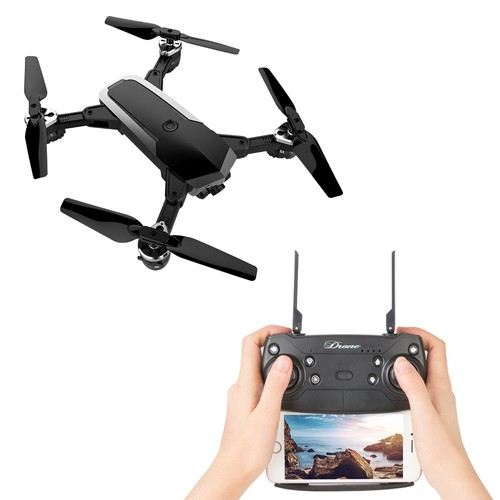 JDRC JD-20S 720P WIFI FPV Flying Time 15mins with 120 Degree Wide-angle Camera Altitude Hold Mode Foldable RC Drone RTF-Black