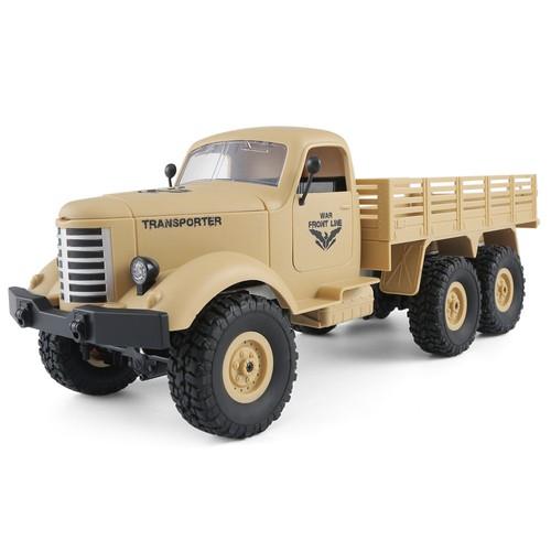 JJRC Q60 Transporter RC аўтамабіляў 6WD Ваенны грузавік RTR Хакі