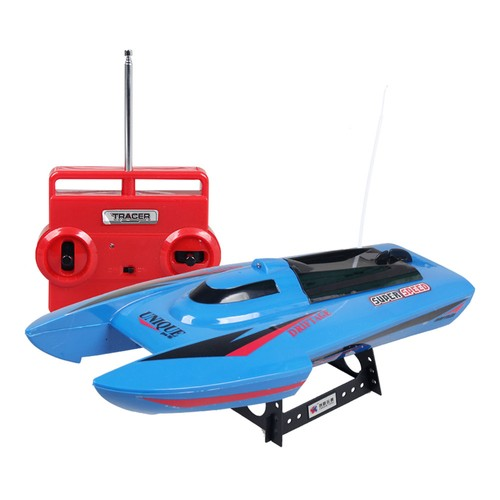 ShenQiWei CT3352 40Mhz 4CH Double Propeller RC Racing Boat Blue