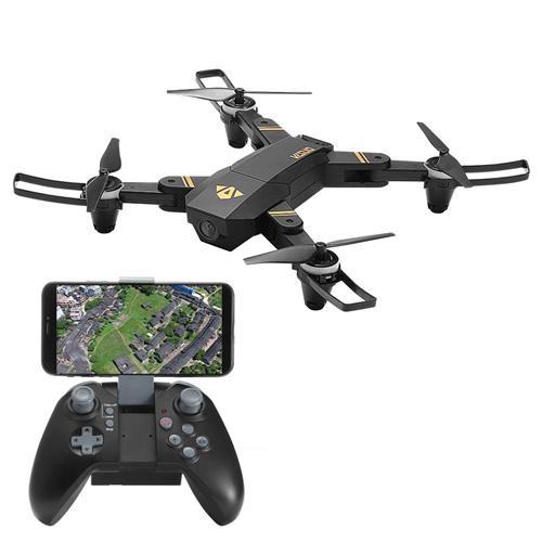 VISUO XS809 Mini 720P HD Wide Angle WIFI FPV Foldable RC Quadcopter with Flight Time 12mins Altitude Hold RTF - Black