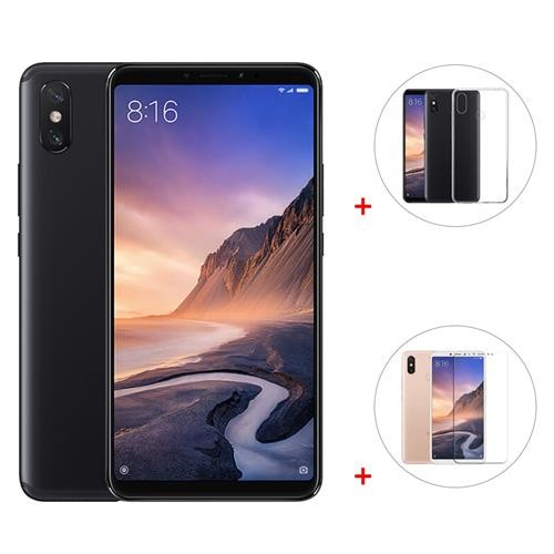 Paquete Xiaomi Mi Max 3 Inch 6.9GB XNUMxGB Smartphone Negro