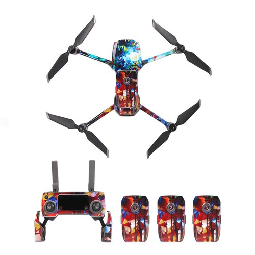 Sunnylife PVC Stickers for DJI Mavic 2 Pro/Zoom RC Drone - Colorful Painting