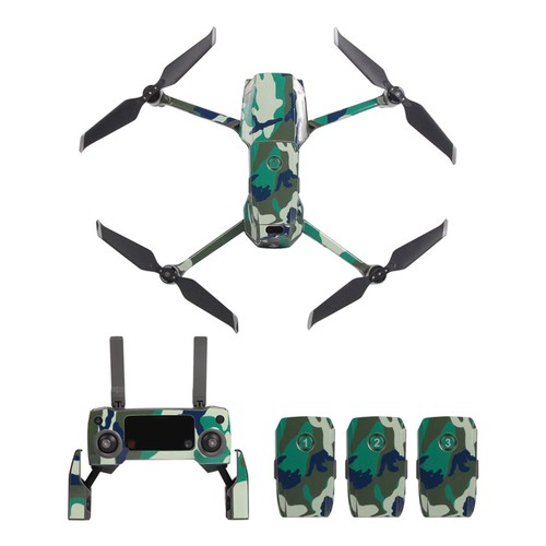Sunnylife PVC Stickers for DJI Mavic 2 Pro/Zoom RC Drone - Green Camouflage