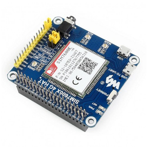 Waveshare SIM7600CE 4G HAT Expansion Board for Raspberry Pi, LTE CAT4 Blue