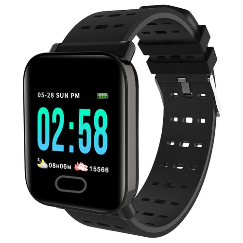 Makibes HR4 Smartwatch 1.3 Inch TFT Screen Heart Rate Monitor Black