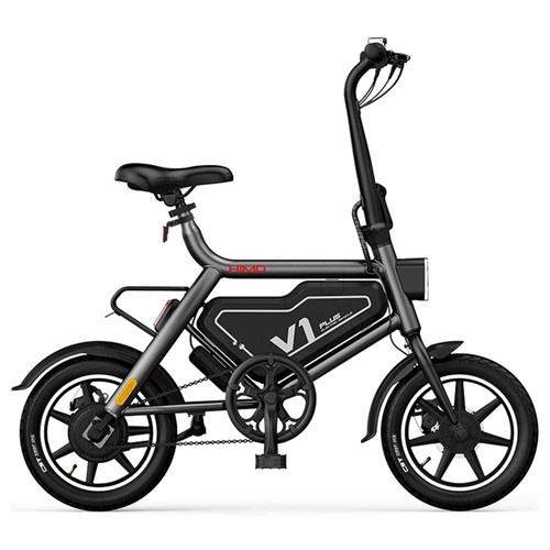 HIMO V1 Plus Portable Folding Electric Moped Bicycle 250W Motor 14 Inch 7.8Ah Battery 25km/h Max speed Lightweight Design - Gray