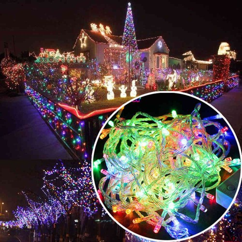 Led Icicle String Lights For Christmas Lights Outdoor Decoration Garden Party Wedding 10 Meters Multi Color