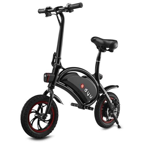 F-koła D1 DYU Elektryczny rower składany Design Standard Edition Czarny