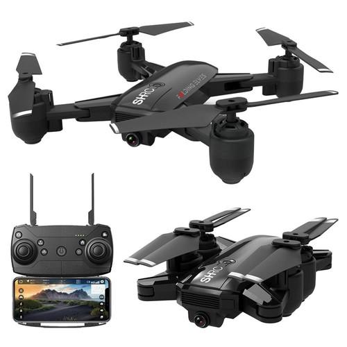 SHRC H1G 1080P 2.4G WiFi GPS FPV RC Drone RTF Black Two Battery