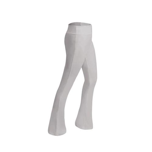 CK2218 női sport fitness jóga nadrág tánc gyakorlat mikro kürt nadrág méret l fehér