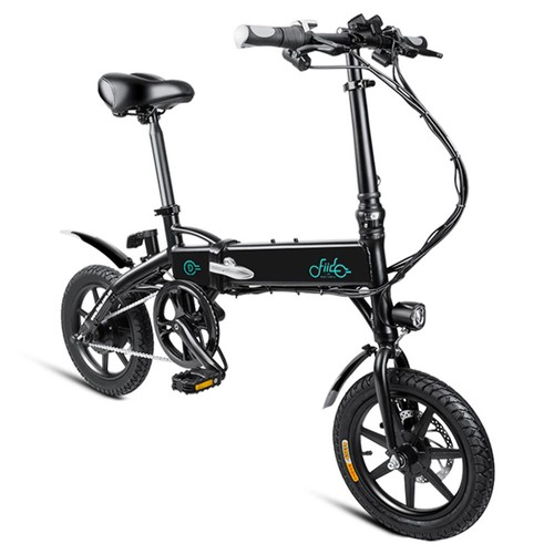 FIIDO D1 Folding Electric Moped Bike Three Riding Modes 14 Inch Tires 250W Motor 25km/h 10.4Ah Lithium Battery 40-55KM Range - Black