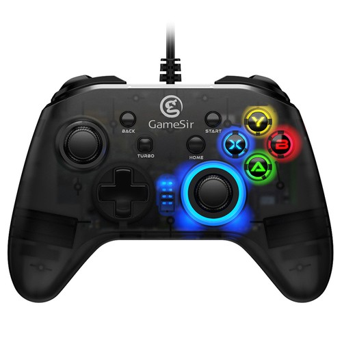 Gamesir T4W Wired Turbo Gamepad for Playstation PC Steam for Windows(7/8/10 ) Android TV BOX - Black