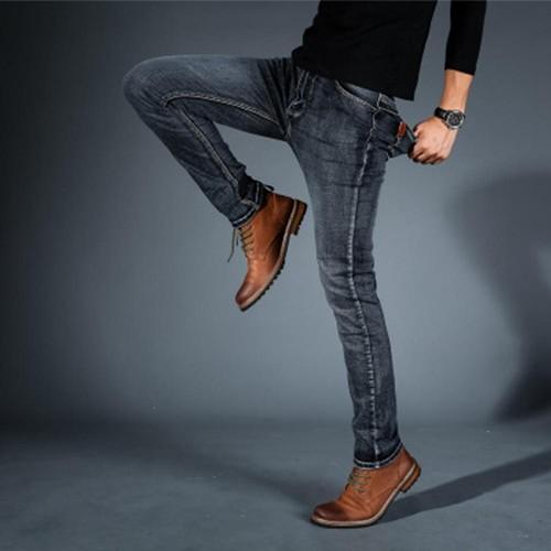 TL86 Herren Elastische Jeans Gerade Dünne Lange Hose Größe 30 Blau