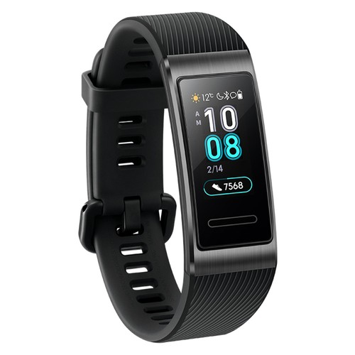 Huawei Band 3 Pro Smart Bracelet 0.95 Inch AMOLED Screen Built-in GPS Heart Rate Sleep Monitor 5ATM Swimming Posture Recognition - Black