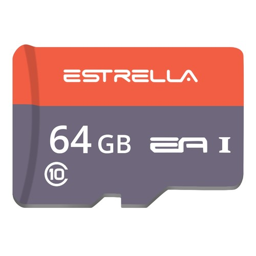 ESTRELLA Class10 Micro SD Memory Card TF for Phones Tablet 64G