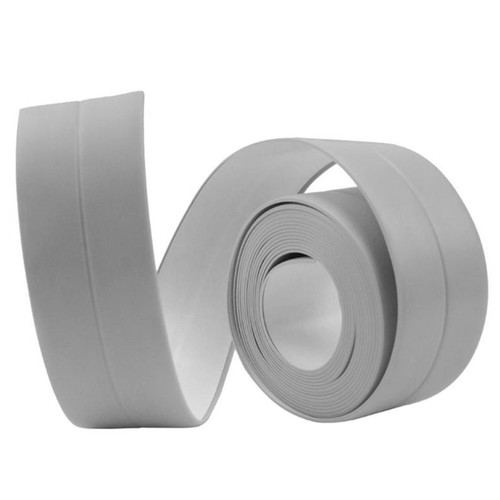 Self Adhesive Wall Seal Ring Tape for Kitchen Bathroom Water Resistant Mold Proof - Gray