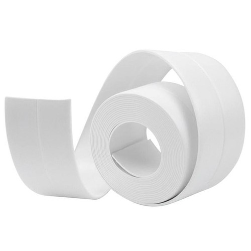 Self Adhesive Wall Seal Ring Tape for Kitchen Bathroom Water Resistant Mold Proof - White