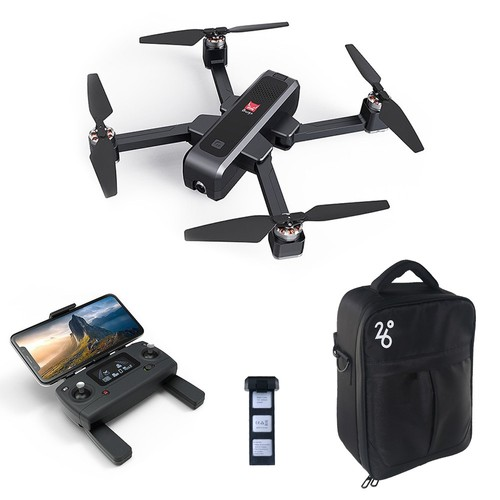MJX Bugs 4 W B4W 2K 5G WIFI FPV GPS Foldable RC Drone With Single-axis Gimbal Follow Me Mode RTF - Two Batteries with Bag