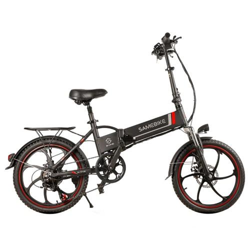 Samebike 20LVXD30 Portable Folding Smart Electric Moped Bike 350W Motor Max 35km/h 20 Inch Tire-Black
