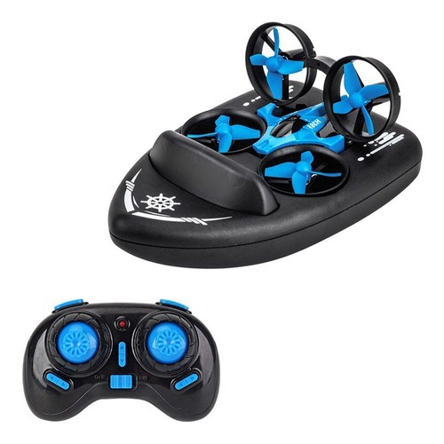 JJRC H36F Terzetto 3 IN 1 Flying Air Boat Land Driving Mode Detachable One Key Return RC Quadcopter RTF - One Battery