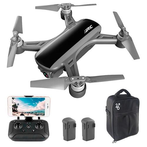 JJRC X9 Garza GPS 5G FPV sense escombretes RC Drone amb càmera 1080P HD 2-Axis Gimbal RTF Black - Tres bateries amb bossa