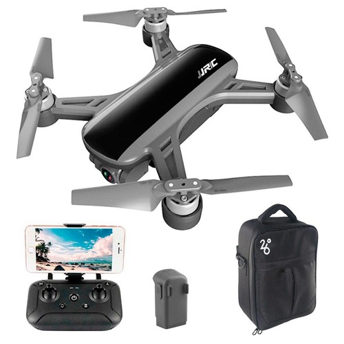 JJRC X9 Heron GPS 5G WiFi FPV Brushless RC Drone With 1080P HD Camera 2-Axis Gimbal RTF Black - Two Batteries with Bag