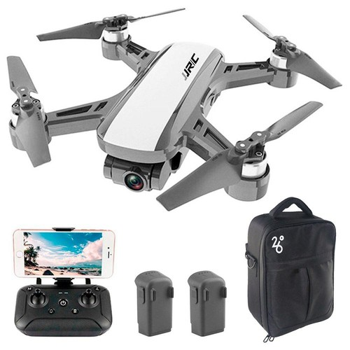 JJRC X9 Heron GPS 5G WiFi FPV Brushless RC Drone With 1080P HD Camera 2-Axis Gimbal RTF White - Three Batteries with Bag
