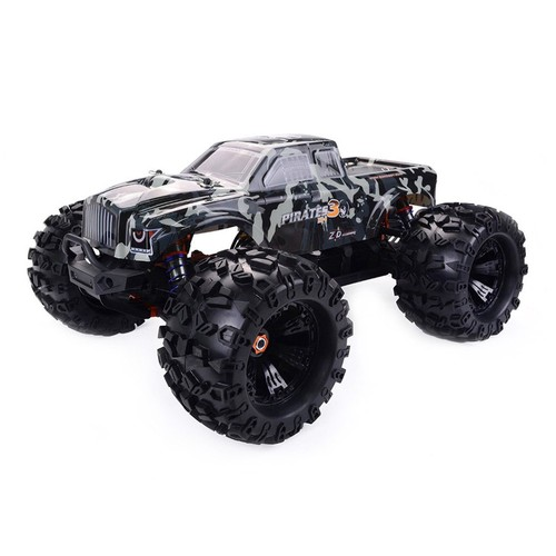 ZD Racing MT8 Pirates 3 1/8 2.4G 4WD Monster Truck Metal Chassis RC Car Without Electronic Parts Kit