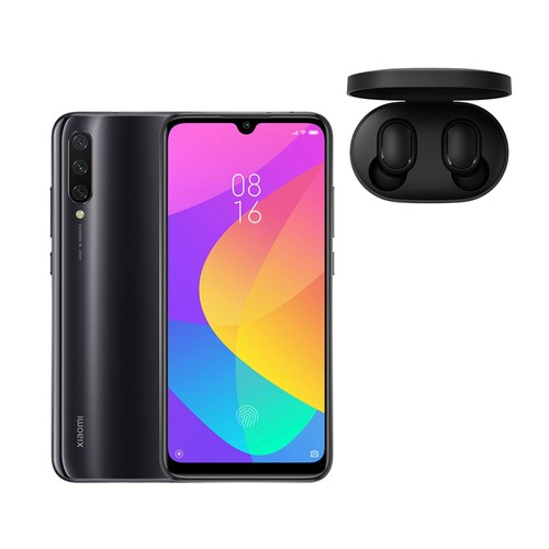 Xiaomi Mi A3 4G LTE Smartphone Snapdragon 665 4GB 64GB Android One Global Version + Xiaomi Redmi AirDots Bluetooth 5.0 TWS Earbuds - Grey
