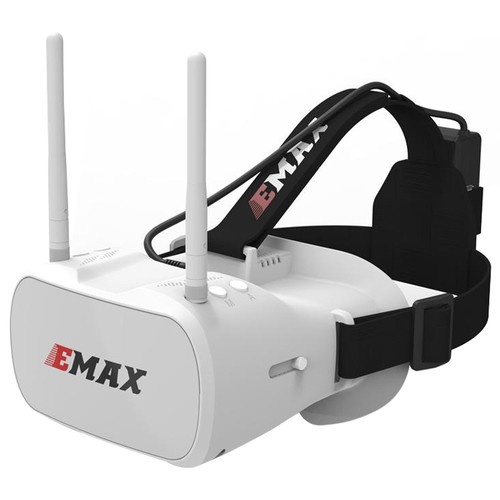 Emax Transporter 5.8G 48CH 4.3Inch Diversity Video Display FPV Goggles Built-in Fan Dual Antenna For FPV Racing Drone