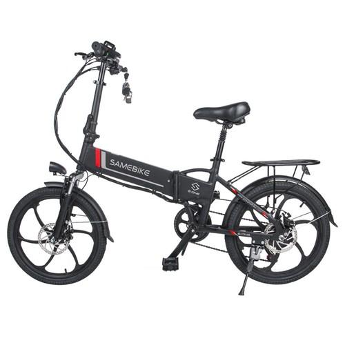 Samebike 20LVXD30 Партатыўны складаны смарт-электрычны мапед на матацыкле 350 Вт Матор макс. 35 км / г 20-цалевы шын - чорны