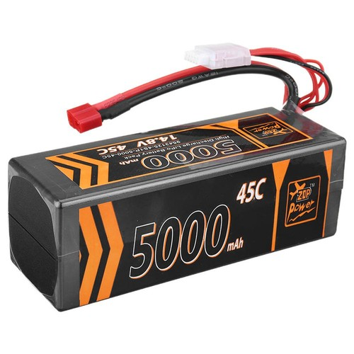 ZOP Power 4S 14.8V 5000mAh 45C Lipo Battery T Plug For RC Car Model FPV Racing Drone RC Airplane Helicopter