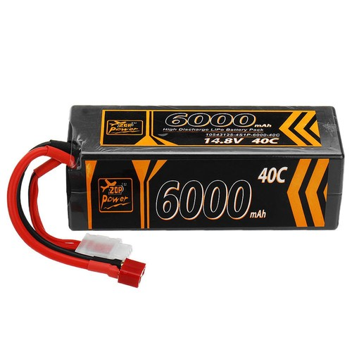 ZOP Power 4S 14.8V 6000mAh 40C Lipo Battery T Plug For RC Car Model FPV Racing Drone RC Airplane Helicopter