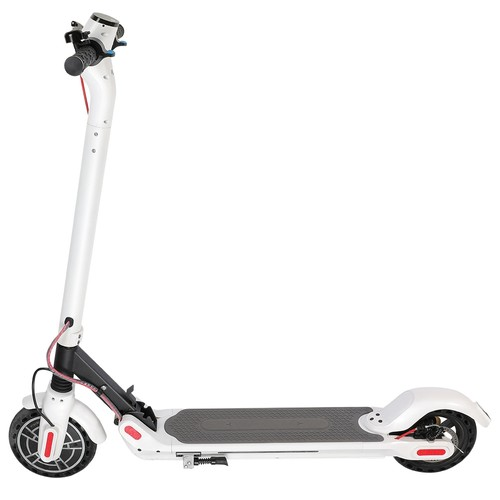 KUGOO ES2 Folding Electric Scooter 350W Motor LED Display Screen Max 25KM_H 8.5 Inch Tire  White