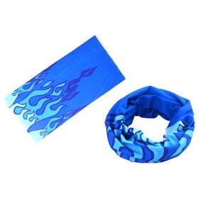 Outdoor Sports Magic Scarf Bicycle Riding Headband Soft Breathable Stain Resistant Design - Blue Fire
