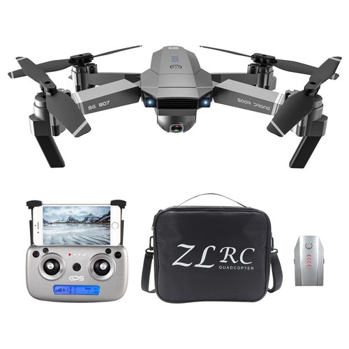 ZLRC SG907 4K 5G WIFI FPV GPS Foldable RC Drone With Adjustable 120 Degree Wide-angle Camera 50x Zoom Optical Flow Positioning RTF - Two Batteries With Bag
