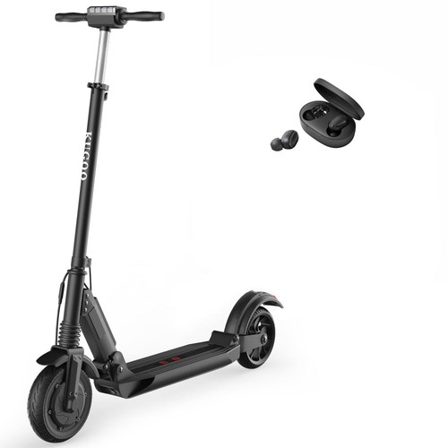 KUGOO S1 Folding Electric Scooter Max 30km/h Black + Redmi AirDots Bluetooth 5.0 TWS Earbuds