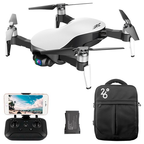 JJRC X12 AURORA 4K 5G WIFI 3KM FPV GPS Foldable RC Drone With 3Axis Gimbal 50X Digital Zoom Ultrasonic Positioning RTF - White Two Batteries with Bag