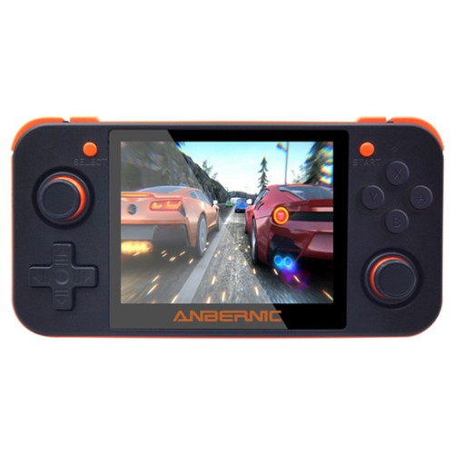 RG350 512M_16GB Open Source Game Console OpenDingux CFW IPS Display 2500mAh Battery Transparent Black