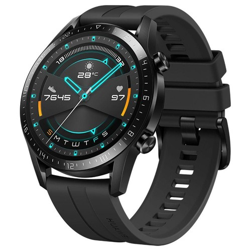 Huawei Watch GT 2 Sports Smart Watch 1.39 Inch AMOLED Colorful Screen Built-in GPS Heart Rate Oxygen Monitor 46mm - Black